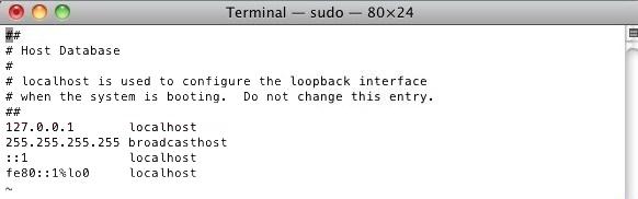 Como editar o arquivo hosts - Mac OS 2