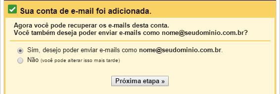 Receber e-mail de outra conta no Gmail - Passo 5