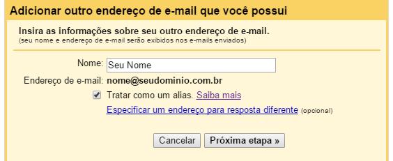 Receber e-mail de outra conta no Gmail - Passo 6