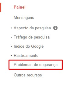 Como remover o alerta de Malware do Google - Passo 1