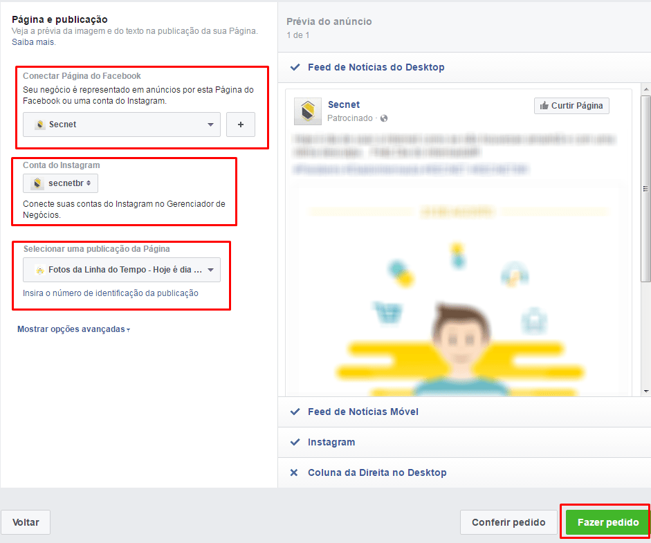 Como criar anúncios no Facebook - Publicação do anúncio