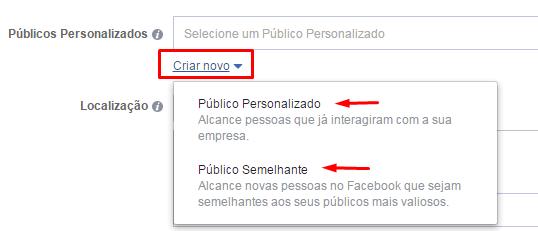 Como criar anúncios no Facebook - Público do