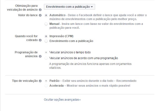 Como criar anúncios no Facebook - Veiculação do anúncio