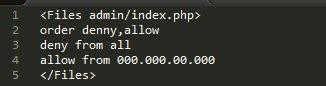 Linha de comando para bloqueio de ip