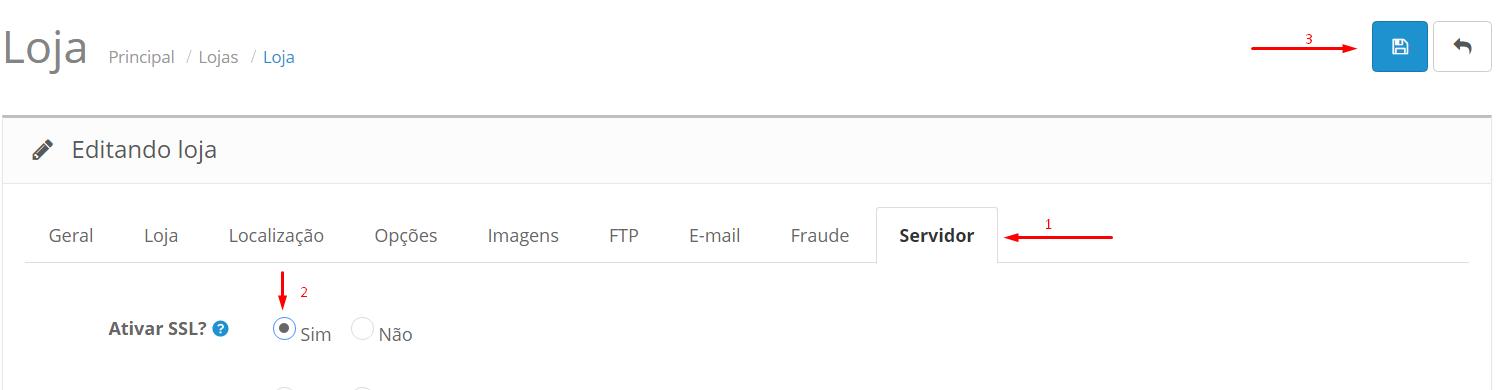 Configurar Certificado SSL no OpenCart - Passo 3