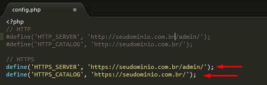 Configurar Certificado SSL no OpenCart - Passo 5