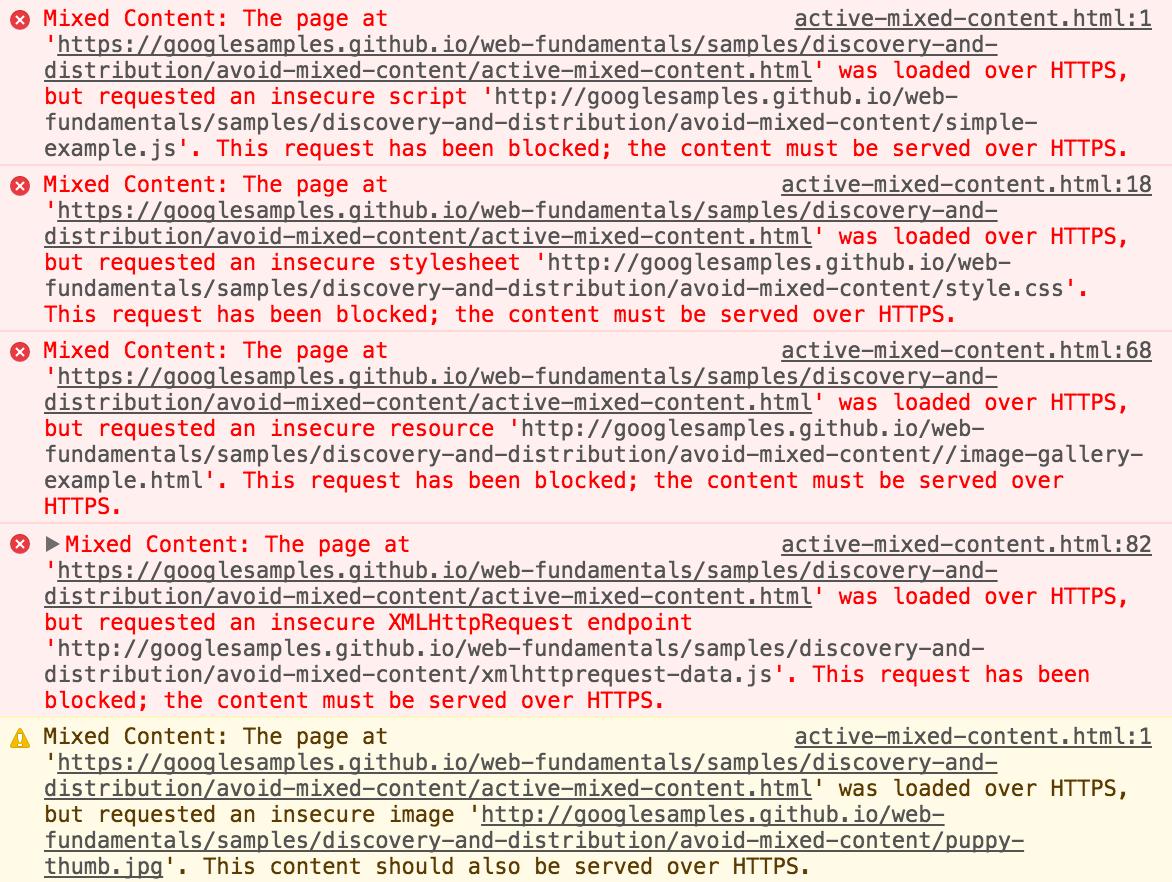 Erro SSL - Alerta de Mixed Content para código