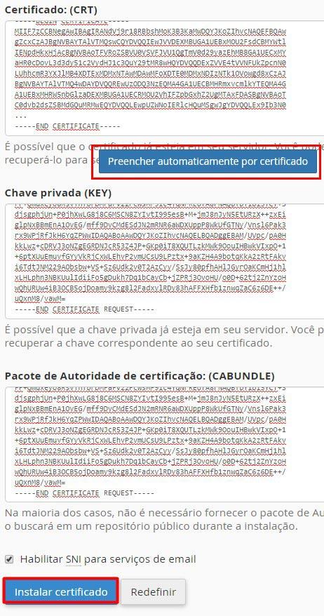 Instalar Certificado SSL - Passo 8