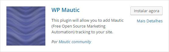 Como configurar o pixel de rastreamento no Mautic - Passo 1