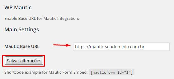 Como configurar o pixel de rastreamento no Mautic - Passo 3