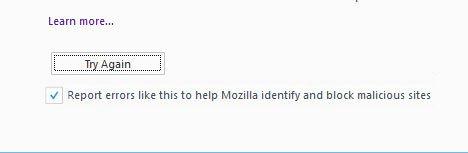 Sua conexão não é segura - Firefox