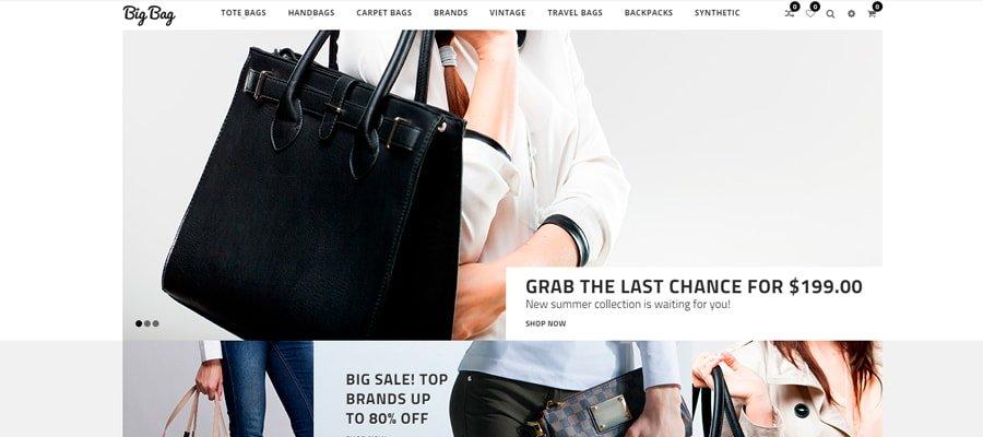 Temas para OpenCart - Big Bag