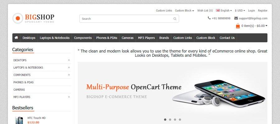 Temas para OpenCart - Big Shop