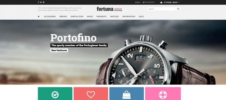 Temas para OpenCart - Fortuna
