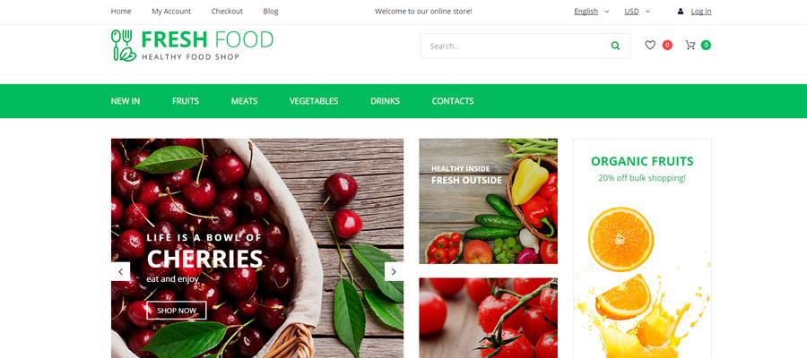Temas para OpenCart - Fresh Food