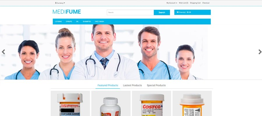 Temas para OpenCart - Medifume
