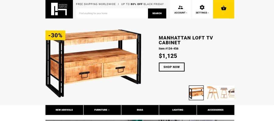 Temas para OpenCart - Modern Furniture