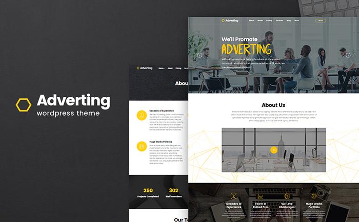 Adverting - Advertising Agency Responsive WordPress Theme - SECNET