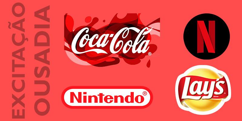 Logomarcas vermelhas