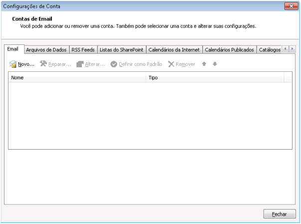 Como remover uma sincronização de conta do Outlook 2010 - passo 4