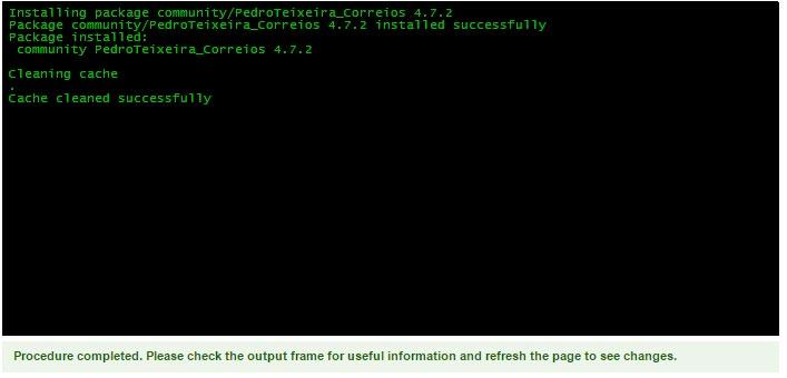 Magento Connect Manager - Módulo instalado - Secnet