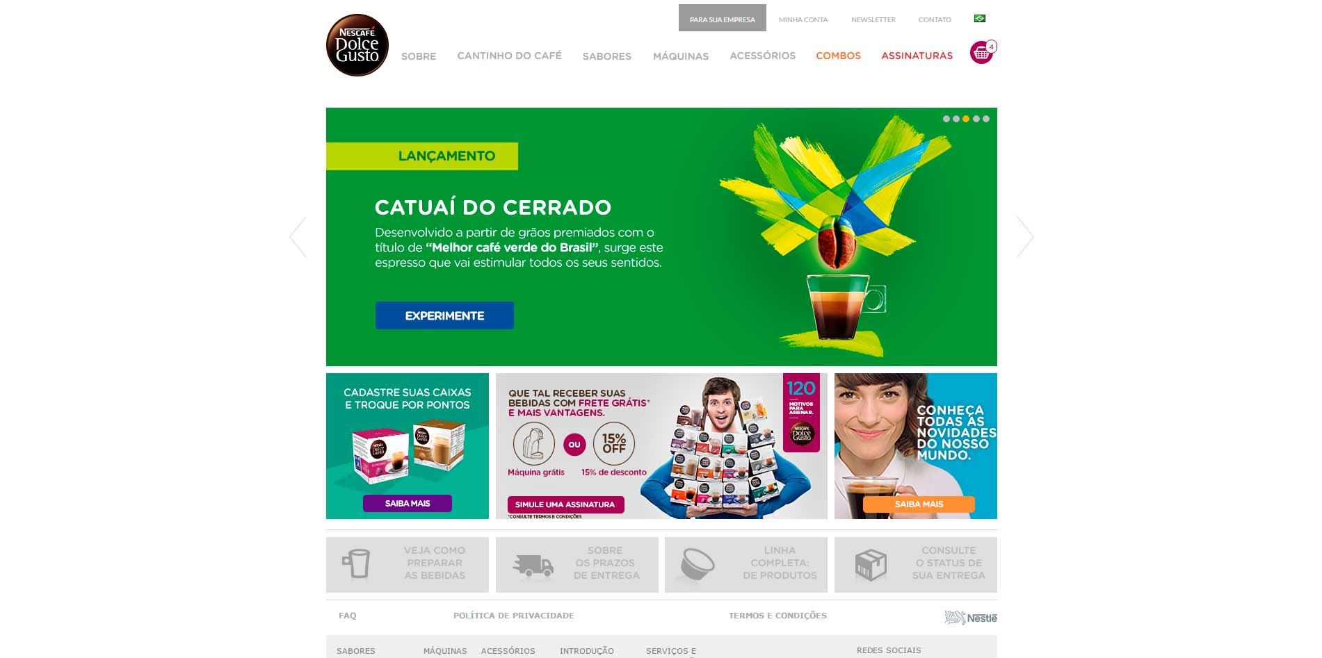 Melhores lojas virtuais Magento 2016 - Dolce Gusto