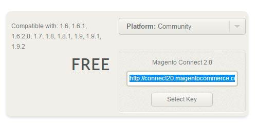 Página do módulo - Magento Connect Manager - Secnet