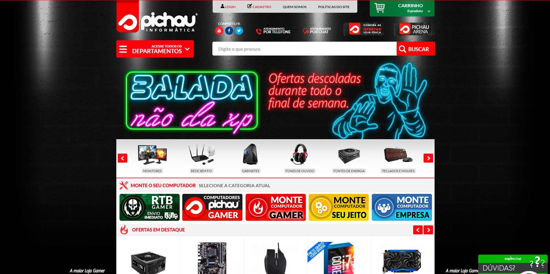 Melhores lojas virtuais Magento 2016 - Pichau