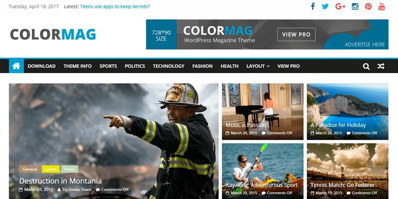 ColorMag Templates - WordPress - Os melhores temas gratuitos