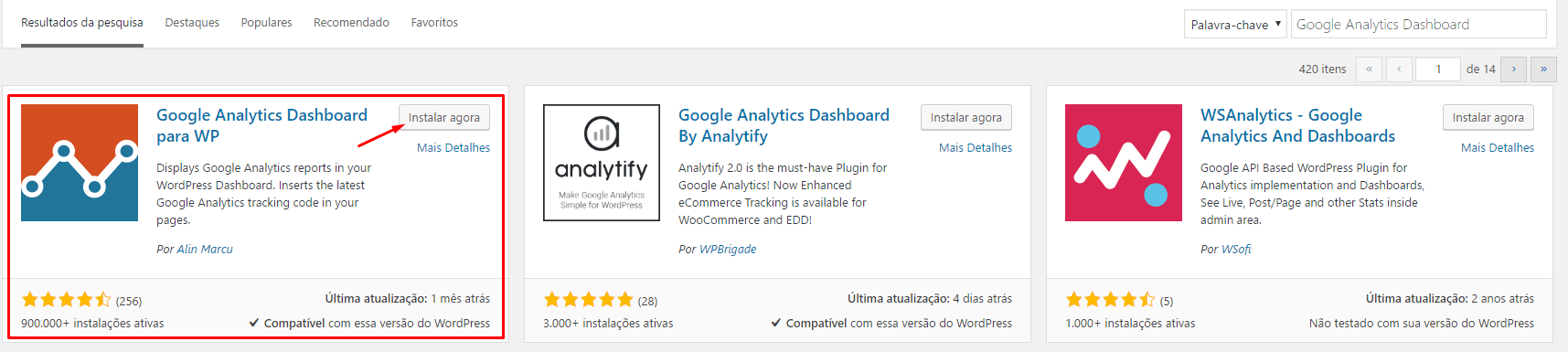 Google Analytics no WordPress - Segundo Passo