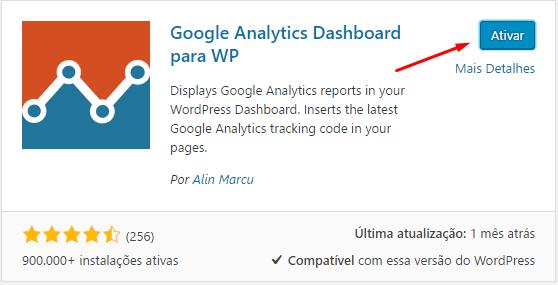 Google Analytics no WordPress - Terceiro Passo
