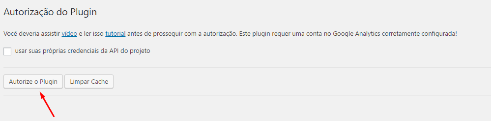 Google Analytics no WordPress - Quarto passo