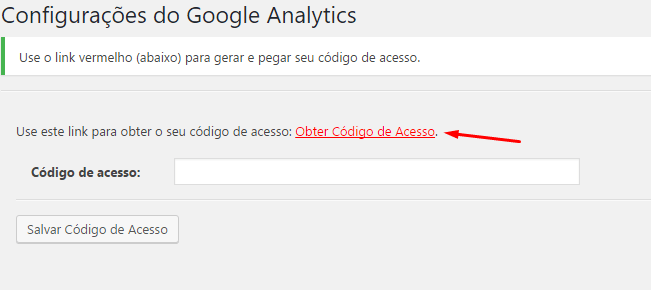 Google Analytics no WordPress - Quinto Passo