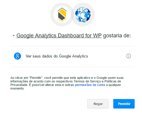 Google Analytics no WordPress - Sexto passo
