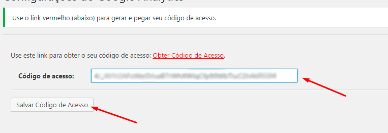 Google Analytics no WordPress - Oitavo passo