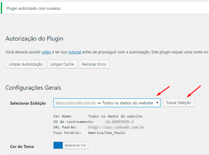 Google Analytics no WordPress - Nono passo