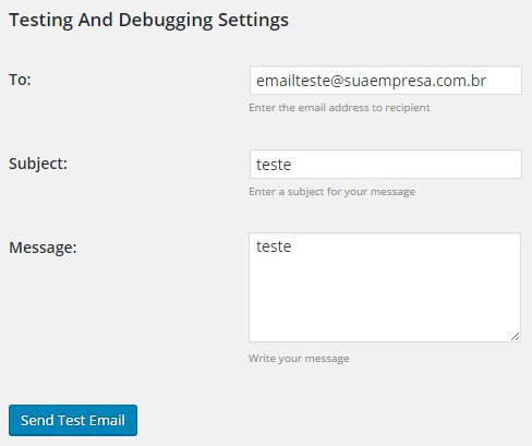 Como enviar e-mail autenticado no WordPress - Quinto passo