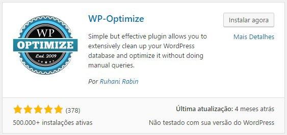 Como limpar e otimizar o banco de dados do WordPress - WP-Otimize