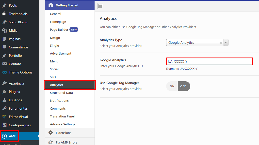 Configurar Google Analytics no AMP