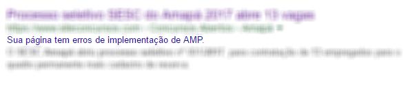 Erro de implementação de AMP