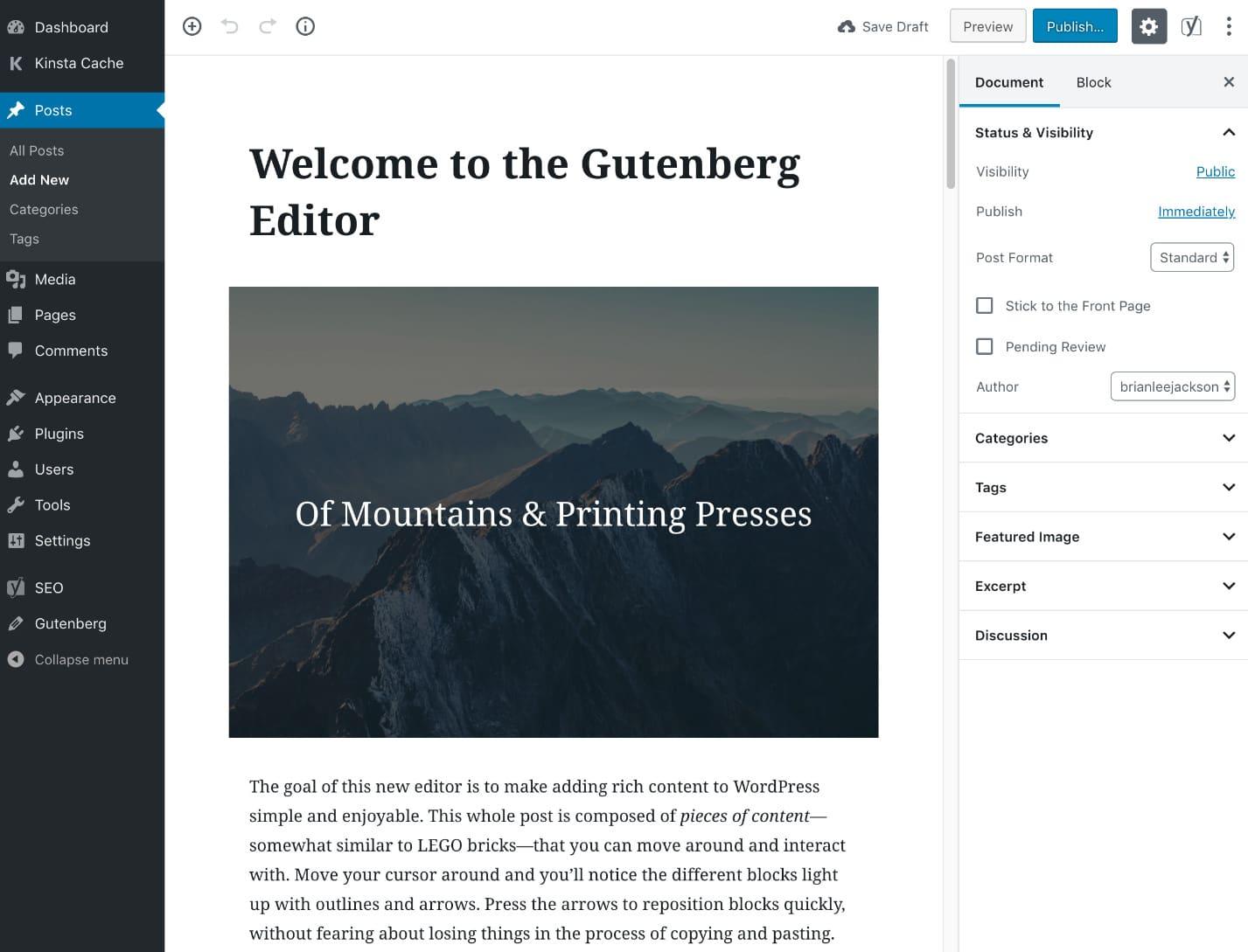 Lançamento do WordPress 5.0 - SECNET