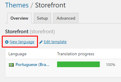 Novo idioma Loco Translate