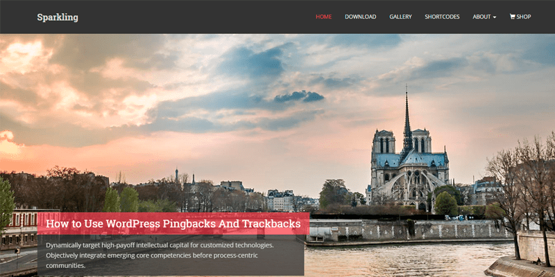 Sparkinlg Template - WordPress - Os melhores temas gratuitos