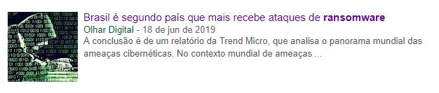 Brasil é segundo país que mais recebe ataques de ransomware - Antivirus Corporativo - Parceiro SECNET